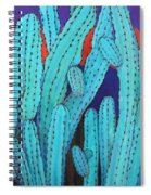 Blue Flame Cactus Acrylic Spiral Notebook