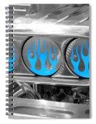 Blue Flames Spiral Notebook