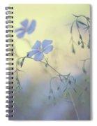 Blue Flex Flower. Nostalgic Spiral Notebook