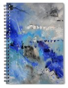Blue Flight Abstract Spiral Notebook