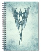 Blue Flight Contemporary Minimalism Spiral Notebook