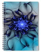 Blue Floral 083010 Spiral Notebook