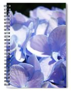 Blue Floral Art Prints Blue Hydrangea Flower Baslee Troutman Spiral Notebook