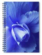 Blue Floral Begonia Spiral Notebook