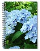 Blue Floral Hydrangea Flower Summer Garden Basle Troutman Spiral Notebook