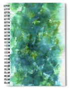 Blue Flower Spiral Notebook