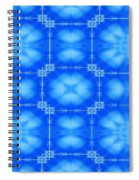 Blue Flowers Abstract Spiral Notebook