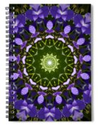 Blue Flowers Kaleidoscope Spiral Notebook
