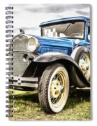 Blue Ford Model A Car Spiral Notebook
