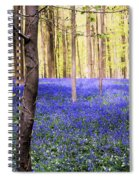 Blue Forest In Shadow Spiral Notebook