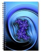 Blue Fractal Art Curved And Elegant Spiral Notebook