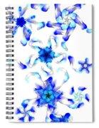 Blue Fractal Flowers Spiral Notebook