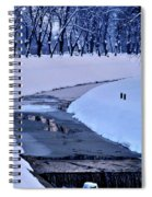 Blue Frozen River Spiral Notebook