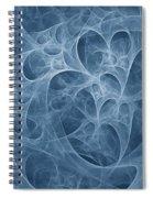 Blue Fugue Spiral Notebook