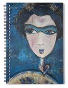 Blue Geisha Love Detail Spiral Notebook