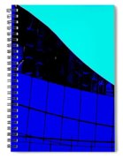 Blue Glass Abstract Spiral Notebook