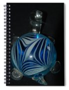 Blue Glass Turtle Spiral Notebook