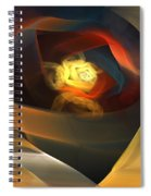 Blue Gold Ribbons Spiral Notebook