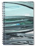 Blue Gray Brush Strokes Abstract Art For Interior Decor V Spiral Notebook