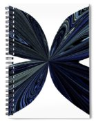 Blue, Green And Black Butterfly Astract Spiral Notebook