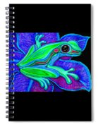 Blue Green Frog Spiral Notebook