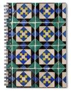 Blue Green Lisbon Tiles Souvenirs Spiral Notebook