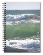 Blue Green Waves Spiral Notebook