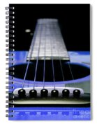 Blue Guitar 14 Spiral Notebook