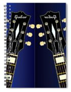 Blue Guitar Reflections Spiral Notebook
