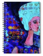 Blue Haired Girl On Windy Day Spiral Notebook
