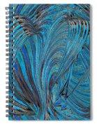 Blue Hearts Open Spiral Notebook