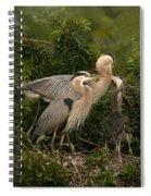 Blue Heron Family Spiral Notebook