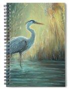 Blue Heron Fishing Spiral Notebook
