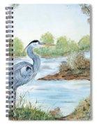 Blue Heron Of The Marshlands Spiral Notebook
