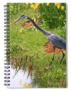 Blue Heron Scene Spiral Notebook