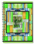 Blue Heron Stained Glass Spiral Notebook