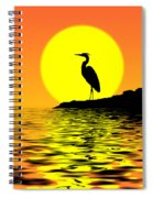 Blue Heron Sunset Spiral Notebook