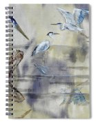 Great Blue Herons Chilling Spiral Notebook