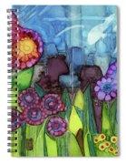 Blue Hoo Hoo Skies Spiral Notebook