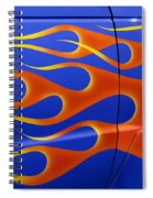 Blue Hot Rod Closeup Spiral Notebook