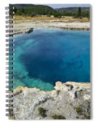 Blue Hot Springs Yellowstone National Park Spiral Notebook