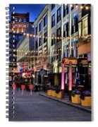 Blue Hour At East Fourth Spiral Notebook