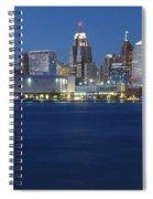 Blue Hour In Detroit Spiral Notebook