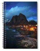 Blue Hour In Lofoten Spiral Notebook