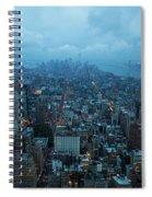 Blue Hour In New York Spiral Notebook