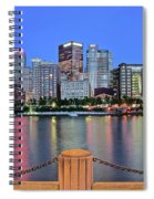 Blue Hour In The Steel City Spiral Notebook
