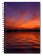 Blue Hour On The Neches  Spiral Notebook
