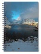 Blue Hour Over Reine Spiral Notebook