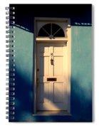 Blue House Door Spiral Notebook