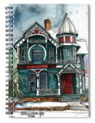 Blue House On A Grey Day Spiral Notebook